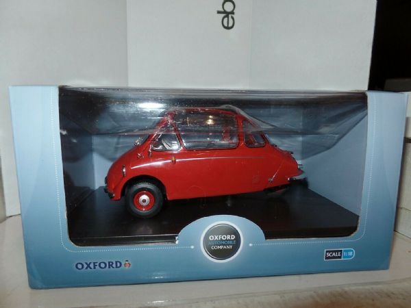 Oxford 18HE002 HE002 1/18 Scale Heinkel Trojan Bubble Car LHD Kabine Spartan Red